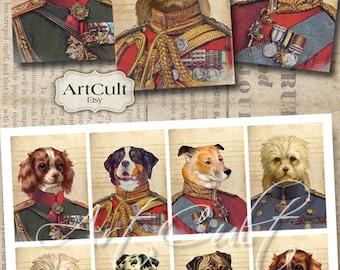 Printable download LITTLE HEROES Gift tags Greeting Cards Digital Collage Sheet Jewelry holders Vintage Ephemera Paper Craft ArtCult art
