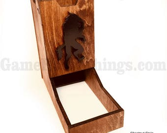 Werewolf Dice Tower, Dice Tower, Wood Dice Tower, Werewolf, Monster Dice Tower, Dice