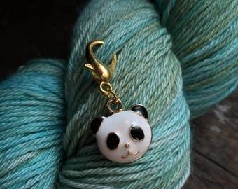 Enamel Panda Knitting Stitch Marker / Progress Keeper