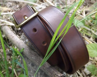 Leather belt - made to measure - hand-made & hand sewn