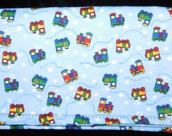 "28"" by 32"" Homemade Snuggle Flannel Reversible Baby Blanket"