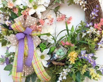 Spring Wreath, Grapevine Wreath, Magnolia Wreath, Sassy Doors Wreath,Spring Front Door Wreath, Summer Wreaths