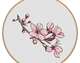 MORE for FREE - Blossom - Counted Cross stitch pattern PDF - Instant Download - Cross Stitch Pattern - Flowers-Love- Needlepoint #1517