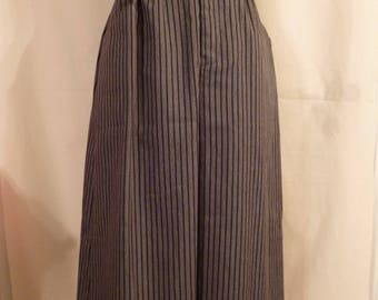 Vintage mid-length pin strip skirt Present Tense 70s 80s 90s Women's sz 10 **Free Shipping**