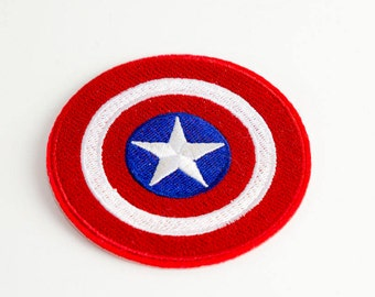 Captain America Inspired Patch Iron On Sew On