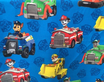 Nick Jr. Paw Patrol Fabric featuring Marshall & many more characters ...