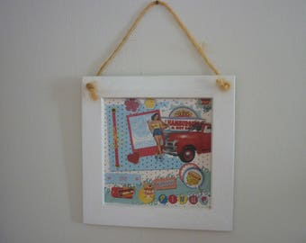 """Retro chic wooden frame """"Pin-up"""""""