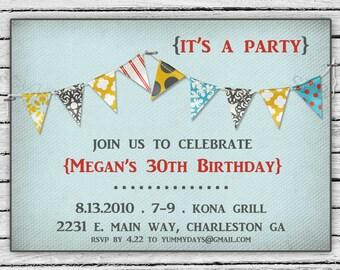 Birthday Party Invitation -- Rustic Celebration
