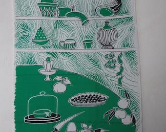 Vintage 60's kitchen towels, french vintage tea towel, kitchen, French, cotton kitchen deco