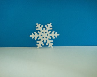 White snowflakes cut foam for creation for Christmas, 4.7 cm diameter