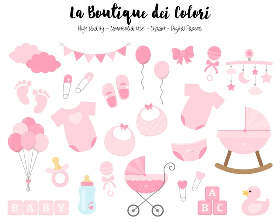 Pink Baby Girl Clipart Cute Graphics Png Scrapbook