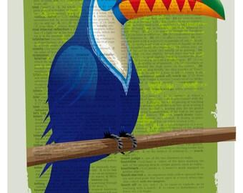 Bird art, Bird,Toucan, Toucan Print, Toucan Poster, Toucan Artwork, Toucan Painting, Exotic Bird, Bird Poster, Bird Print, Exotic Bird