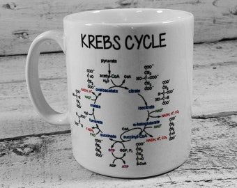 New KREBS CYCLE Gift Mug Cup Present Science Biology Biochemistry for a Scientist student teacher