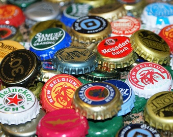 10+ Bent beer bottle caps for your projects