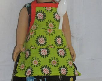 "18"" American Doll Clothes, Chef's Hat and Apron Set"