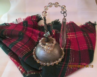 Vintage Oil Can, Oil Can Blinged out with Old Jewelry, Knick Knacks, Christmas Gift, Home Decor