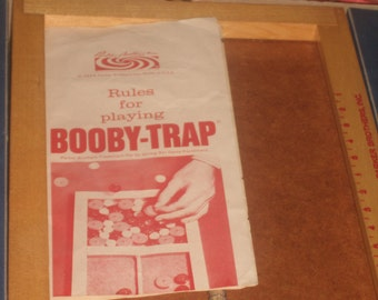 Vintage 1965 BOOBY TRAP GAME