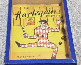 Harlequin Vintage Dexterity Puzzle Game - R. Journet