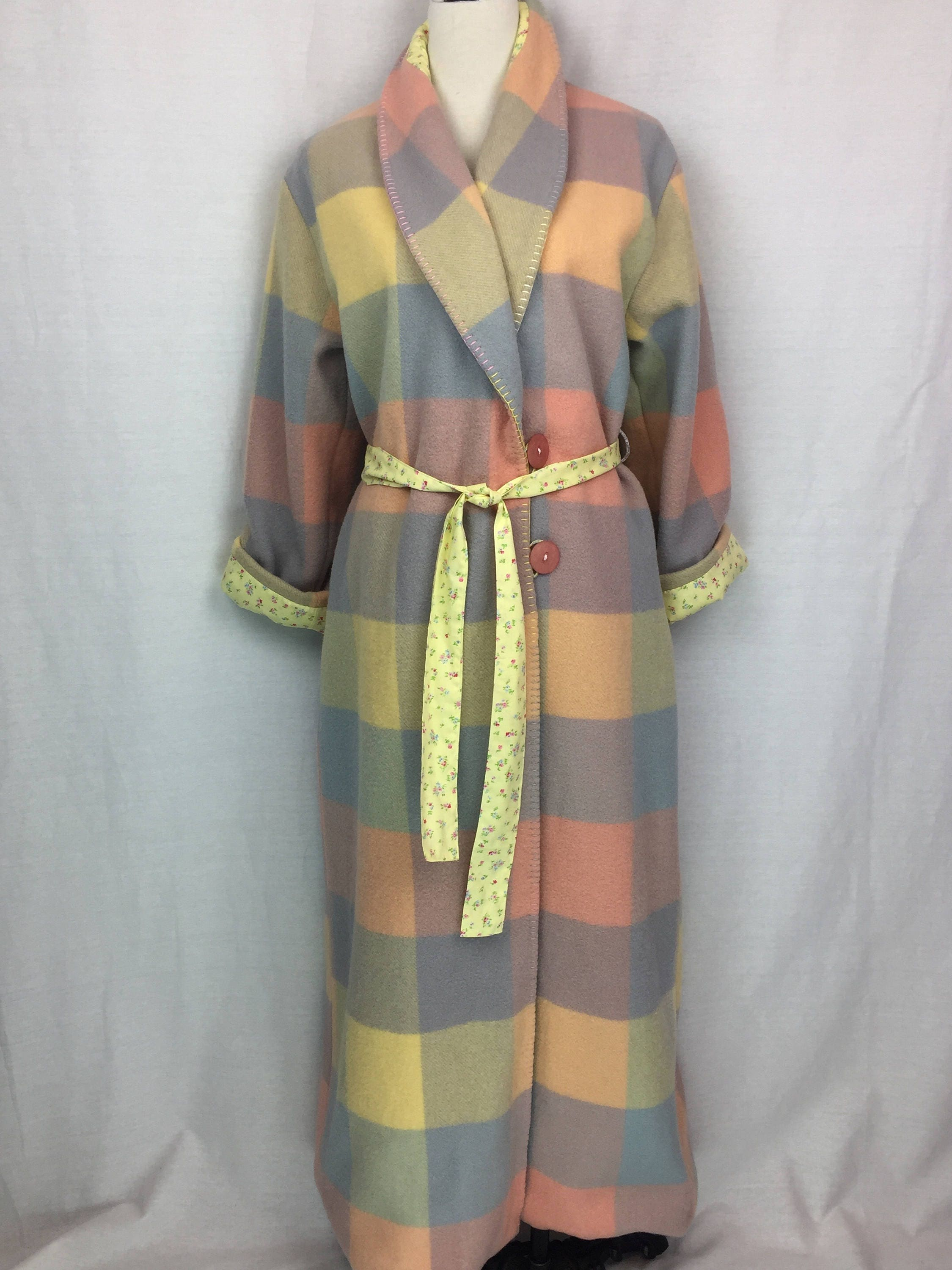 Wool Robe or Dressing gown repurposed from vintage Australian wool ...