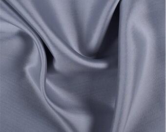 Light Gray Silk/Wool Gab, Fabric By The Yard