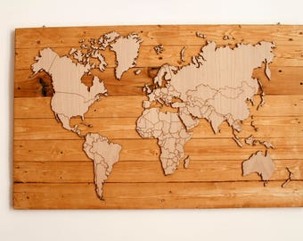 WOW-World v 2.0 _ World _ Wood World _ map _ Wooden Map _ Wooden World