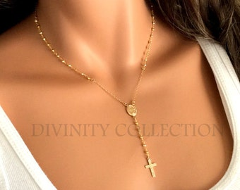 Rosary Necklace High Quality Gold Filled Pyrite Gemstone