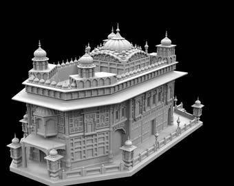 STL File of Miniature Golden Temple for 3D Printing