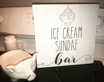 Ice Cream Sundae Bar Sign