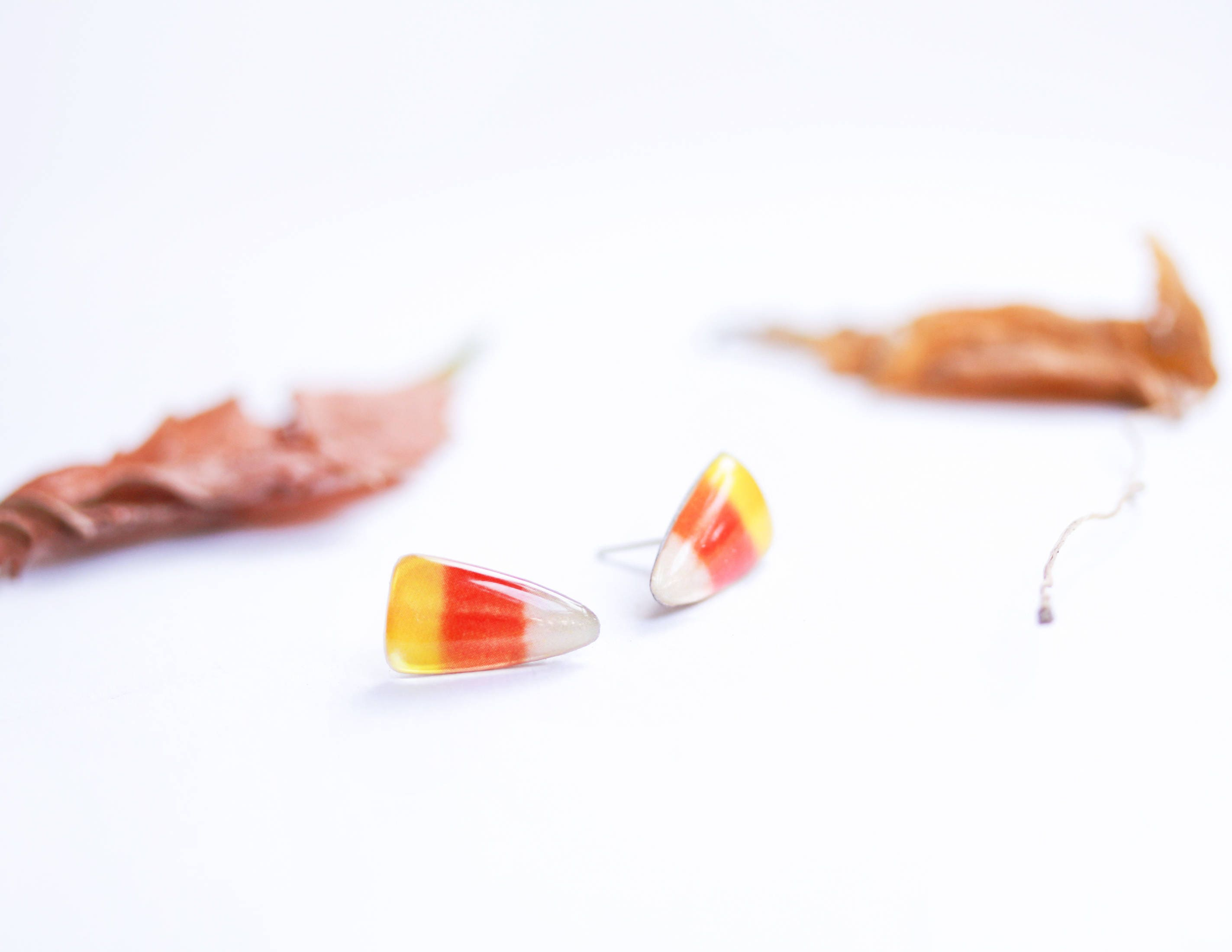 Halloween Süßigkeiten Mais Ohrringe Halloween süße Ohrringe