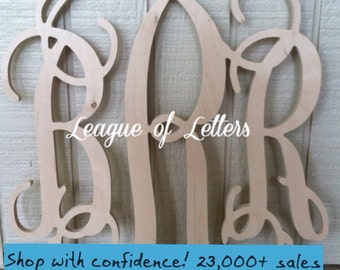 SALE ITEM: 24 inch Wooden Monogram Letters Home Decor, Large Wood Monogram, Nursery Monogram, Wedding Monogram, Gift for Her, Mother's Day
