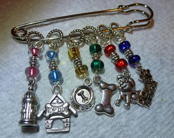 Dog Lover Stitch Markers for Knitting