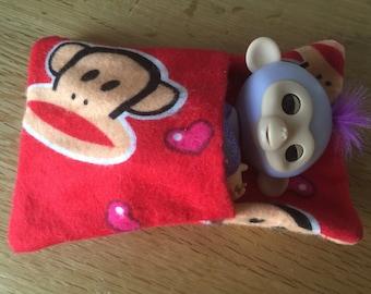 Cute Fingerlings Red Monkey Themed Sleeping Bag