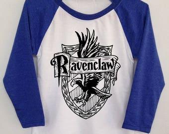Ravenclaw quidditch unisex youth clothing baseball 3/4 longsleeve harry potter