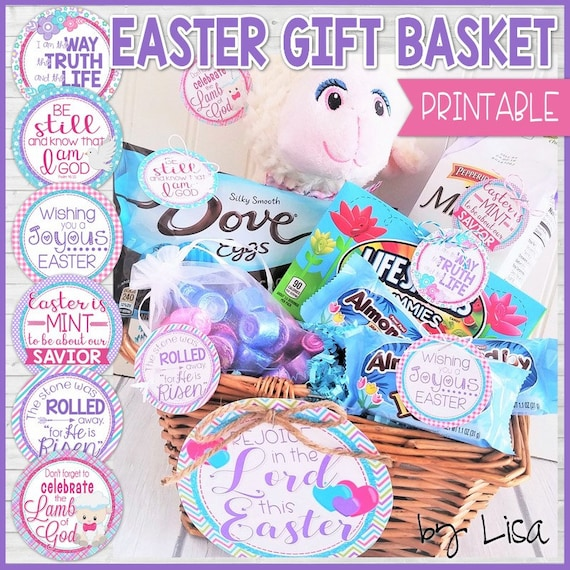 Religious easter basket gift tags christian easter gifts religious easter basket gift tags christian easter gifts easter basket stuffers easter cards tags printable instant download by lisa negle Gallery