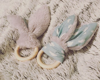 Bunny rattle and bells