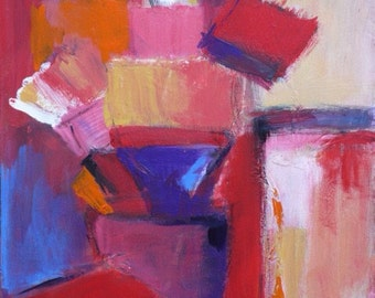 Abstract canvas painting acrylic #4