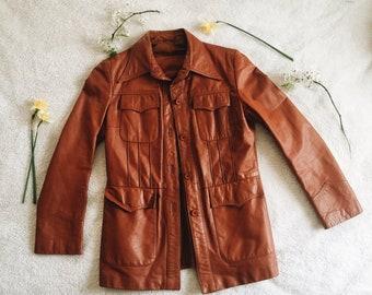 1970s Vintage Western Leather Jacket