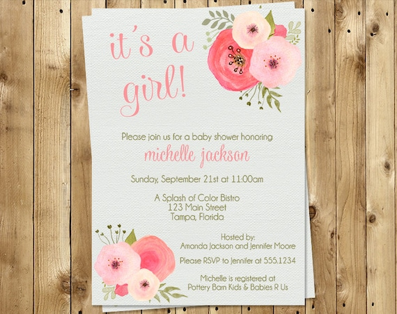 pink vendors girl sweet vintage roses baby invitation product chalkboard shower invitations and il