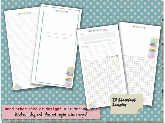 Sermon notes journal pdf template printable notebook page sermon notes journal pdf template printable notebook page christian planner inserts faith planner 3 sizes any re size is free pronofoot35fo Image collections