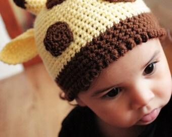 0 to 3m Newborn Giraffe Hat Jungle Safari Hat Newborn Baby Giraffe Beanie Animal Jungle Baby Hat Yellow Brown Baby Shower Gift Costume