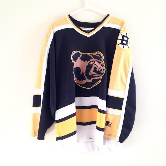 bruinsbearjersey  boston bruins vintage starter pooh bear hockey jersey 7f3cdeede