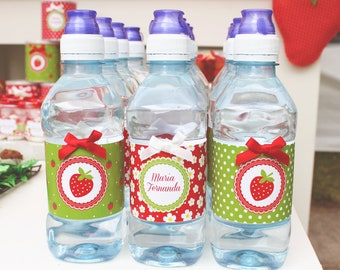 Water Label Strawberry Party