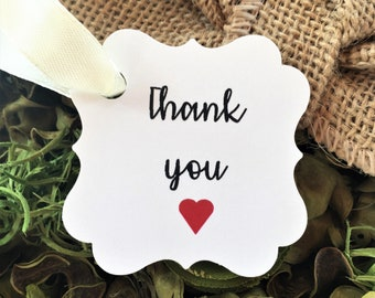Thank you Gift Tags:  Wedding Tags | Thank you Tags | Gift Tags | Wedding Favor Tags | Personalized Tags|Wedding Thank You Tags