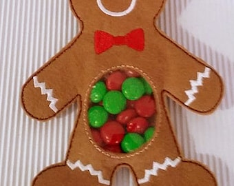 ITH Ginger Bread Man Treat Holder - (5x7) Instant digital download