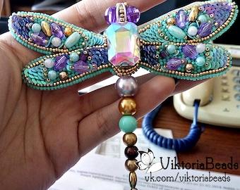 handmade brooch  beads brooch tender dragonfly accessories jewerly bijouterie viktoriabeads