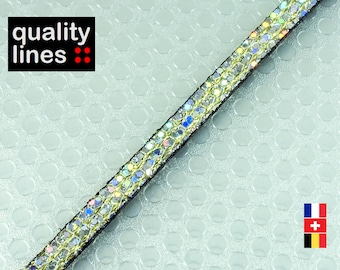 X 18CM - 2 mm light gold glitter soft 5mm flat leather (18 cm is enough to make a bracelet up to size XL)