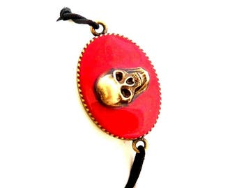 Red Skull Stretch Bracelet