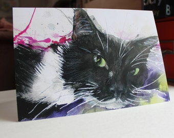 Oscar - Cat Greetings Card