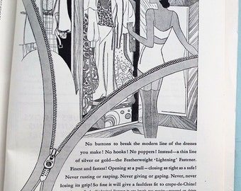 Vogue's Guide to Practical Dressmaking 1932 UK edn - vintage 1930s Vogue needlework book sewing techniques - 30s adverts - women's fashions
