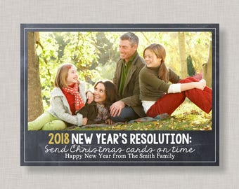 Funny New Years Card Photo,New Year Card,New Year Cards 2018,New Year Card Photo,New Years Resolution Cards,Funny Holiday Card,Printable,DIY